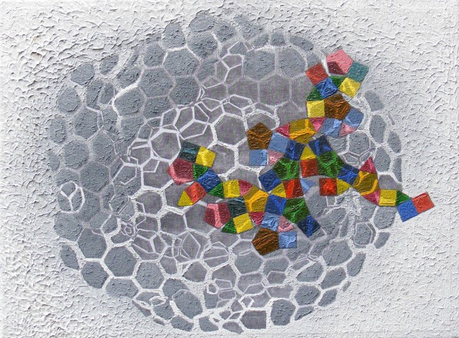 Beehive 12, 2011, photo, oil on canvas, 30x40