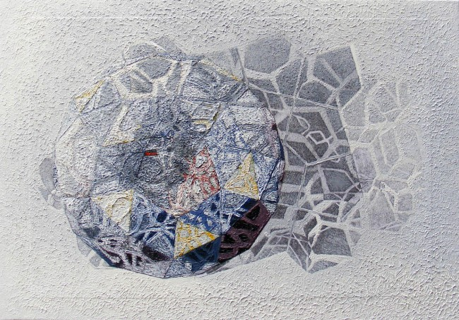Beehive 14, 2011, photo, oil on canvas, 35x50