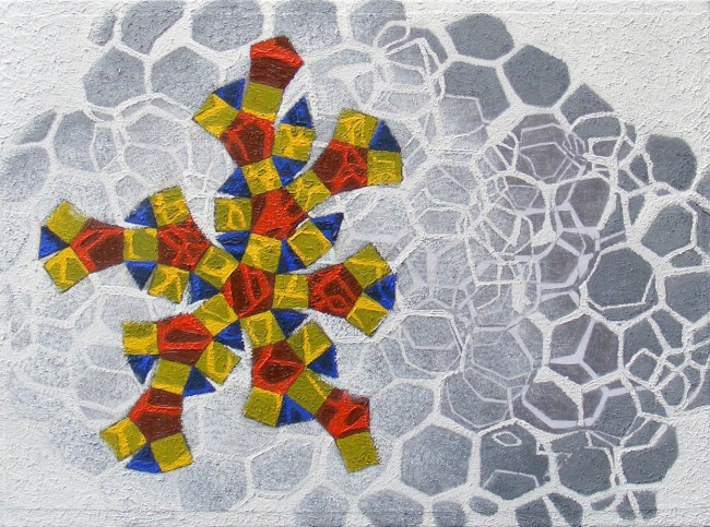 Beehive 2, 2011, photo, oil on canvas, 30x40