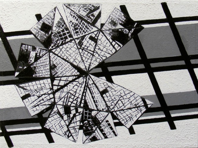 Dodeca 4, photo, oil on canvas, 30x40 cm