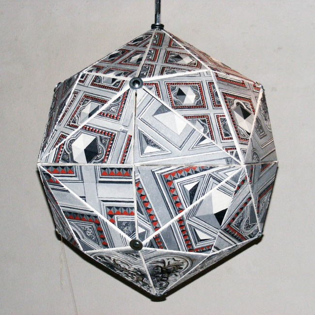 Dodeca object, 2011, photo, oil on canvas, 110x110x110 cm
