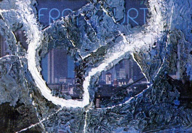 Frankfurt Pikture Postcards 3, 1994, photo, oil on glass, 10x15 cm