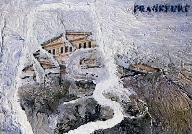 Frankfurt Pikture Postcards 4, 1994, photo, oil on glass, 10x15 cm