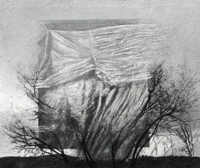 Imitation-object 11, 2008, photo, oil on canvas, 60x70 cm