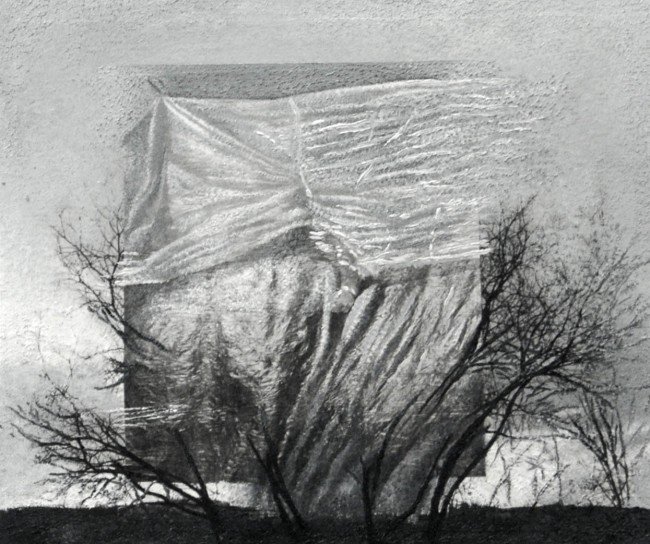 Imitation-object 11, 2008, photo, oil on canvas, 60x70 cm
