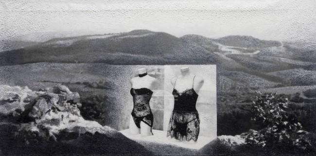 Imitation-object 18, 2004, photo, oil on canvas, 50x100 cm