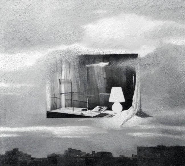 Imitation-object 2, 2004, photo, oil on canvas, 40x50 cm