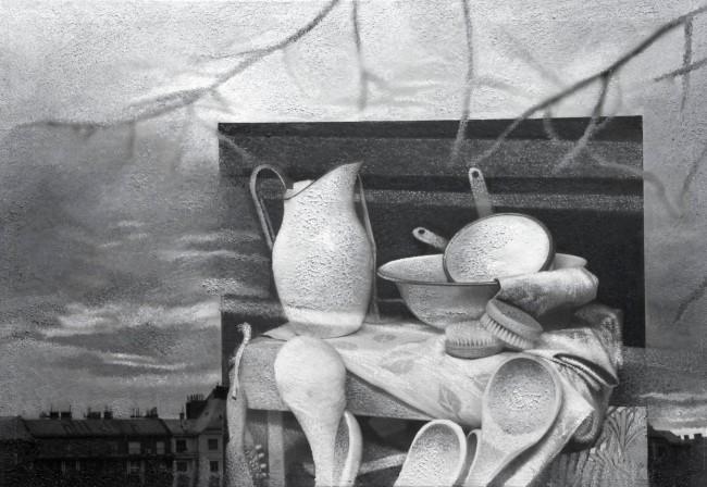 Imitation-object 21, 2004, photo, oil on canvas, 70x100 cm