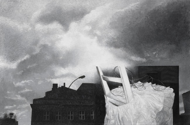 In and Out : Berlin 11, 2005, photo, oil on canvas, 100x150 cm