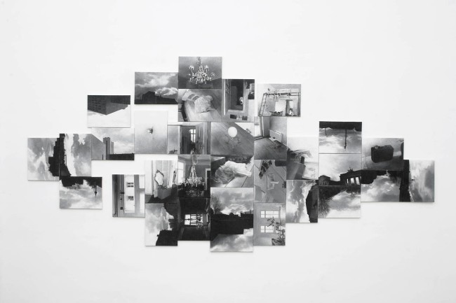 In and Out : Berlin, 2005, Painting-installation, photo, oil on canvas, 180x380 cm
