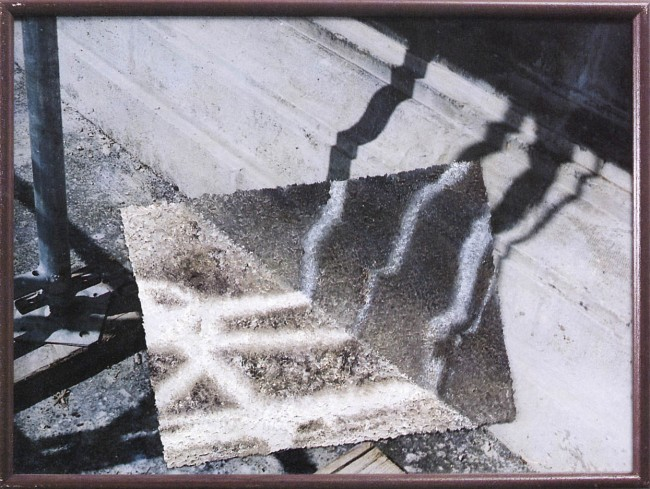 Shadows of Budapest 1, 1995, photo, oil on glass, 30x40 cm