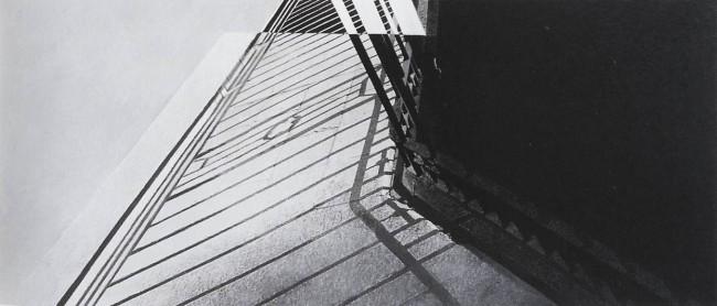 Shadows of Budapest 12, 1997, photo, oil on canvas, 110x250 cm
