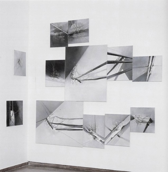 Shadows of Budapest, 1996, Painting-installation 2, photo, oil on canvas, 260x340 cm