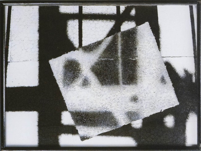 Shadows of Budapest 2 , 1995, photo, oil on glass, 30x40 cm