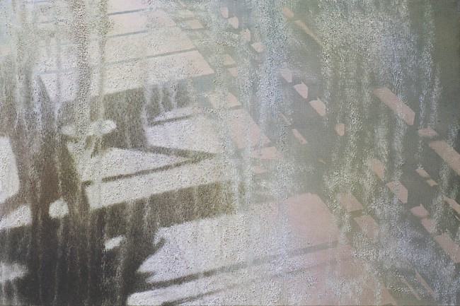 Shadows of Budapest 4, 1996, photo, oil on canvas, 50x70 cm