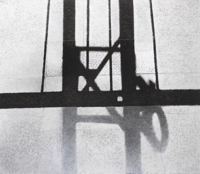 Shadows of Budapest 7, 1996, photo, oil on canvas, 60x70 cm
