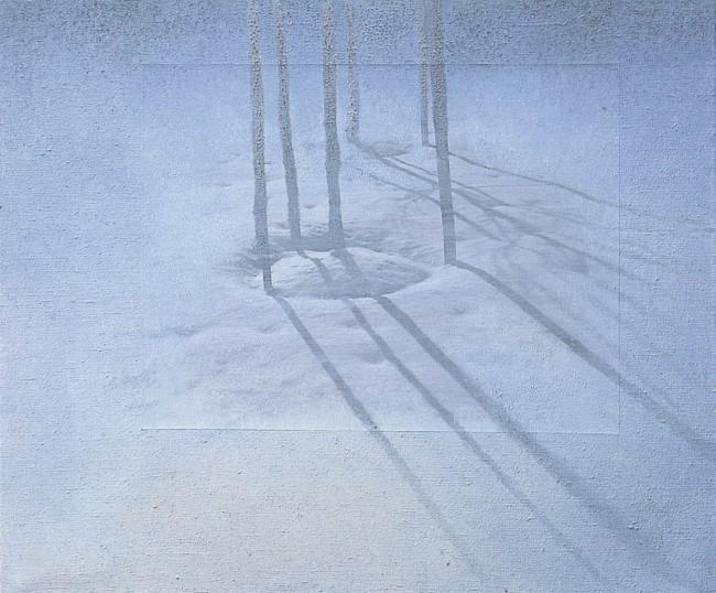 Shadows of Budapest 9, 1996, photo, oil on canvas, 55x65 cm