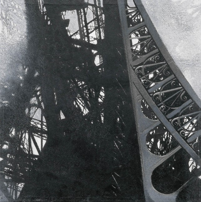 Shadows of Paris 1, 1997, photo, oil on canvas, 70x70 cm