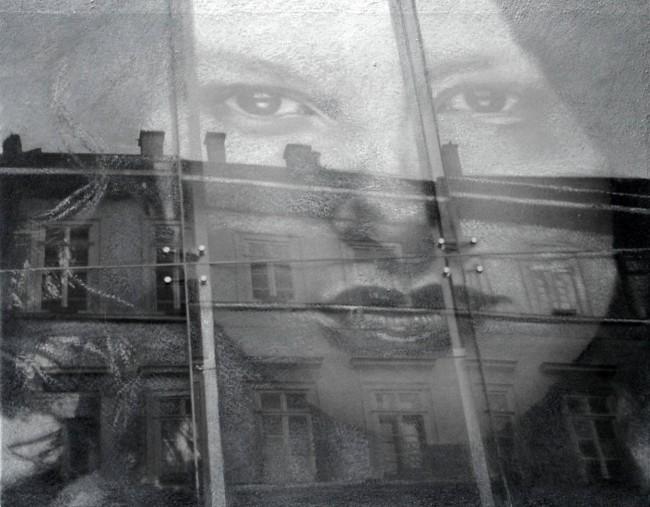 Still Life : Benetton 8, 2002, photo, oil on canvas, 70x100 cm