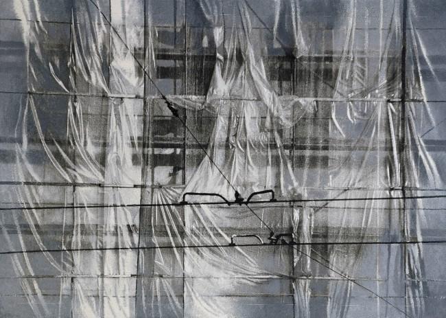 Still Life Budapest 1, 2000, photo, oil on canvas, 100x140 cm