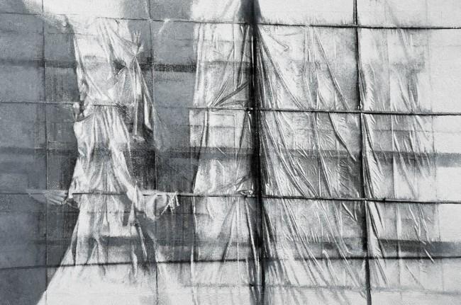 Still Life Budapest 10, 2000, photo, oil on canvas, 100x150 cm