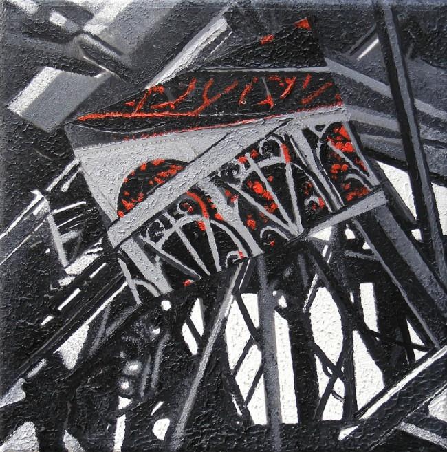 Still Life Paris 1, 2008, photo, oil on canvas, 30x30 cm