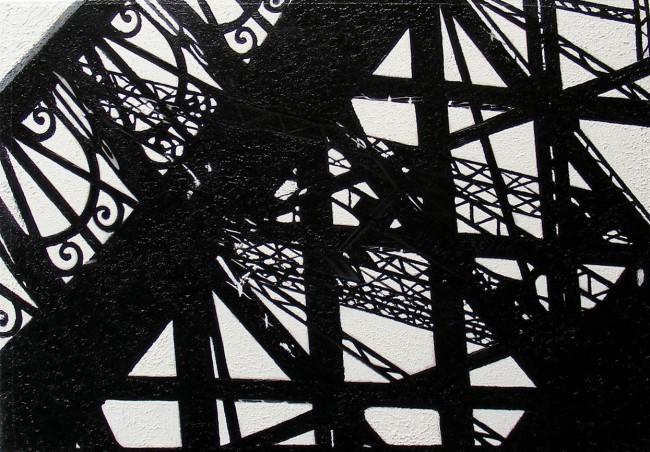 Still Life Paris 11, 2008, photo, oil on canvas, 50x70 cm