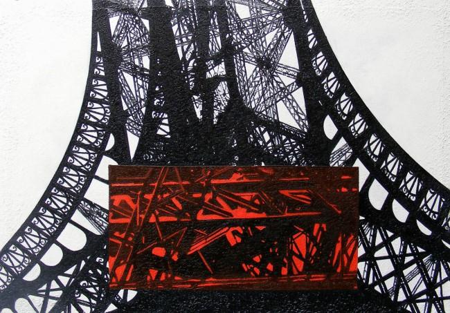 Still Life Paris 14, 2008, photo, oil on canvas, 70x100 cm