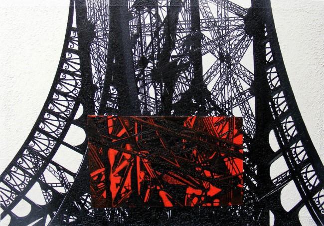 Still Life Paris 15, 2008, photo, oil on canvas, 70x100 cm