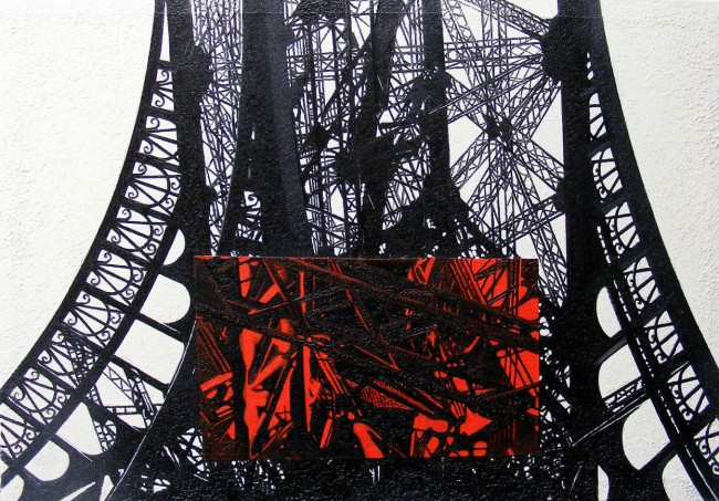 Still Life Paris 15, 2008, photo, oil on canvas, 70x100 cm