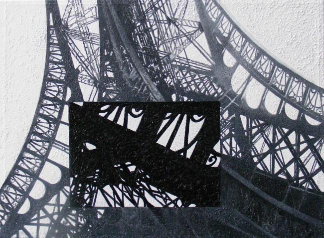 Still Life Paris 3, 2008, photo, oil on canvas, 50x70 cm
