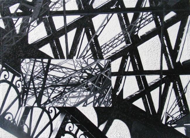 Still Life Paris 4, 2008, photo, oil on canvas, 50x70 cm