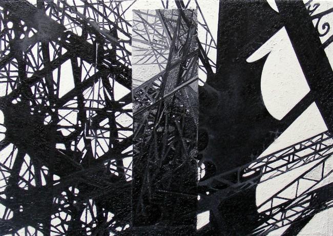 Still Life Paris 9, 2008, photo, oil on canvas, 50x70 cm