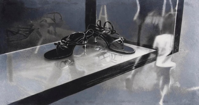 Still Life : Shop Windows 16, 2001, photo, oil on canvas, 80x140 cm