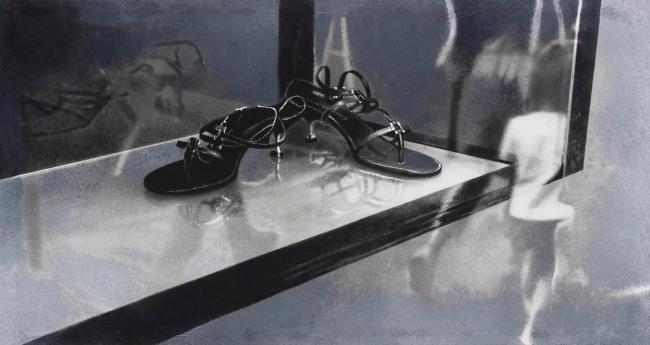 Still Life : Shop Windows 16, 2001, photo, oil on canvas, 80x140 cm