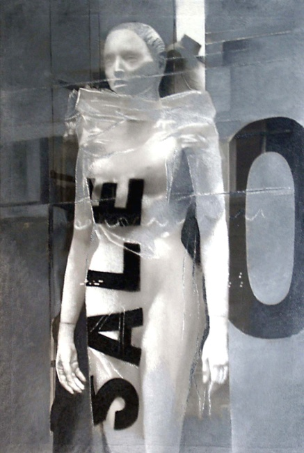 Still Life : Shop Windows 18, 2002, photo, oil on canvas, 160x100 cm