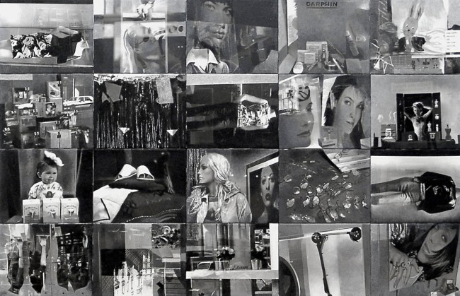 Still Life : Shop Windows, 2001, Painting-installation, photo, oil on canvas, 120x200 cm