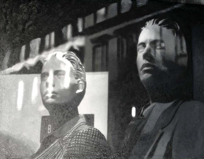 Still Life : Shop Windows 27, 2001, photo, oil on canvas, 100x120 cm