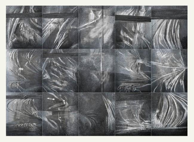 Symptom, 2015, Painting-installation 2, photo, oil on canvas, 180x250 cm