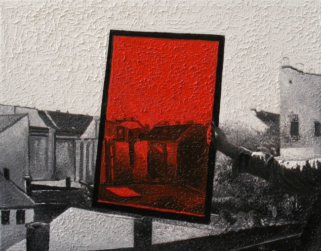 Writer Still Life 2, 2008, photo, oil on canvas, 30x40 cm
