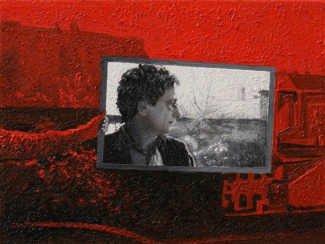 Writer Still Life 3, 2008, photo, oil on canvas, 40x30 cm