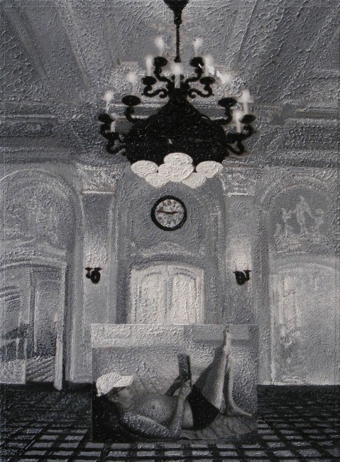 Writer Still Life 4, 2008, photo, oil on canvas, 40x30 cm