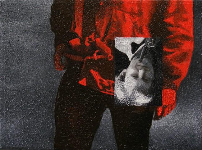 Writer Still Life 9, 2008, photo, oil on canvas, 30x40 cm